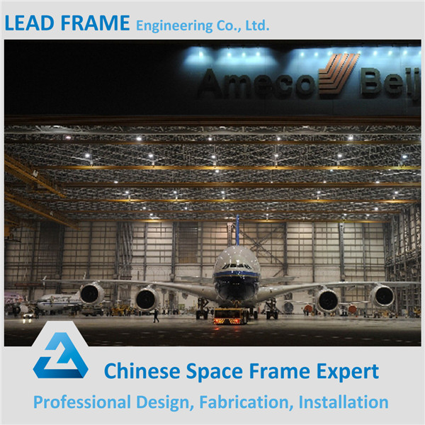 steel structure space frame prefabricated airport hangar