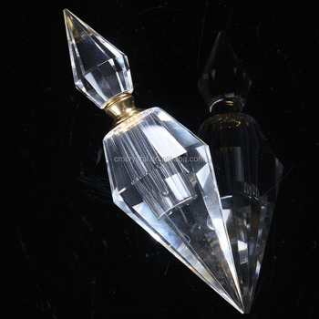 Crystal Teardrop Perfume bottles,customized faceted crystal bottles with cap