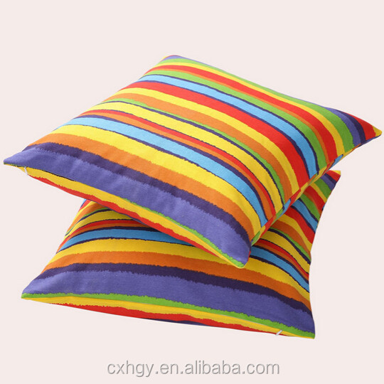 Lovely rainbow pillow/popular square pillow/plush rainbow pillow