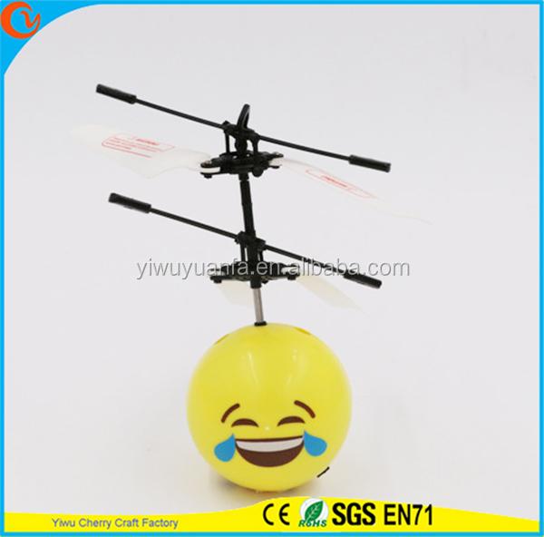 Hot Selling Interesting Mini Flying Ball Toy Funny Emoji Face Heli Ball