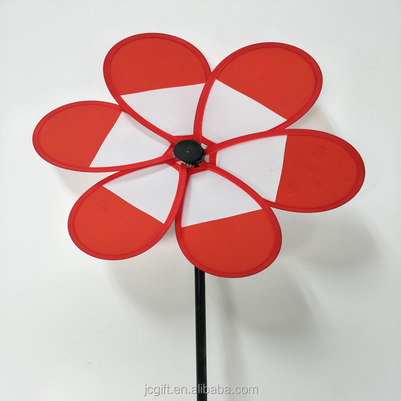Chinese supplier decorative windmill flower wind spinners solar toys solar promotional windmill
