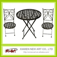 Low price metal garden table and chair set outdoor furniture