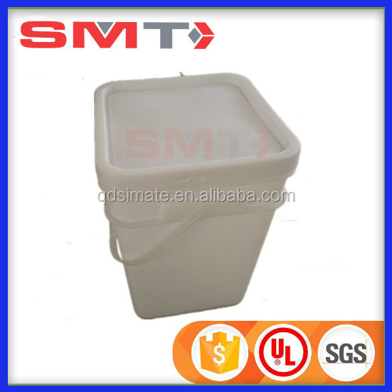 virgin pp food grade plastic bucket printing colored square pail