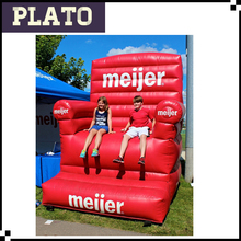 Meijer Giant Standing Inflatable Sofas Chairs Attractive Advertising Inflatable Red Sofa