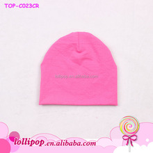 2015 lovely Wholesale plain newborn baby fitted hats cotton cool kids chef hat