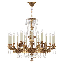 French Empire Bronze Lights Fixture 18 Lights Crystal Chandelier Lighting Pendant Ceiling Lamp