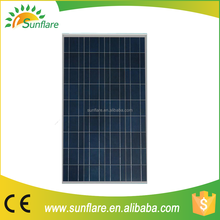 customized attractive price 150w 18v poly pv solar panel price