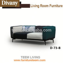 2015 Divany furniture high quality aviator leather sectional sofa reasonable price