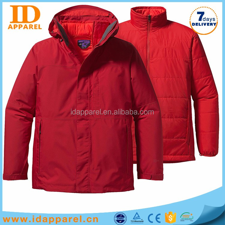 windproof teflon coat jacket man , 3in1 winter custom jacket for sale