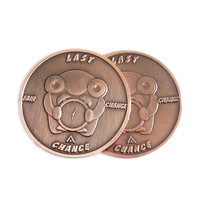 custom antique copper Challenge Coin 3D antique copper plated tungsten challenge coin