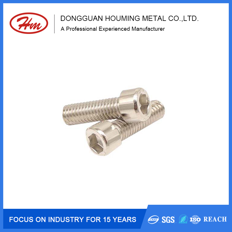 Factory price custom hand tighten hex head cap aluminum screws