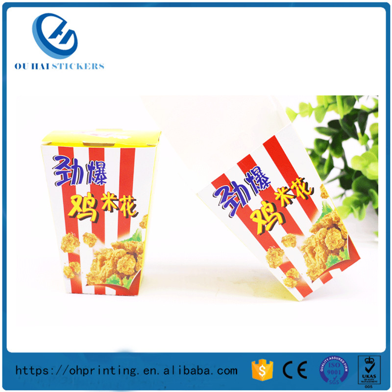 Customize Popcorn Paper Eco Boxes Fried Chicken Printing Packaging