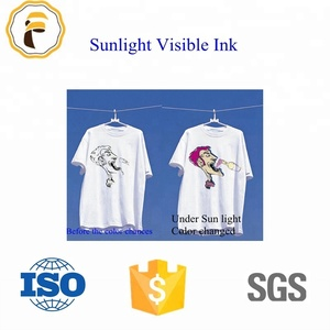 UV screen printing Solar Discoloration Ink/Photochromic Ink/Sunlight Visible Ink