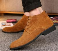 High quality classic luxury men shoes genuine leather casual ankle boot