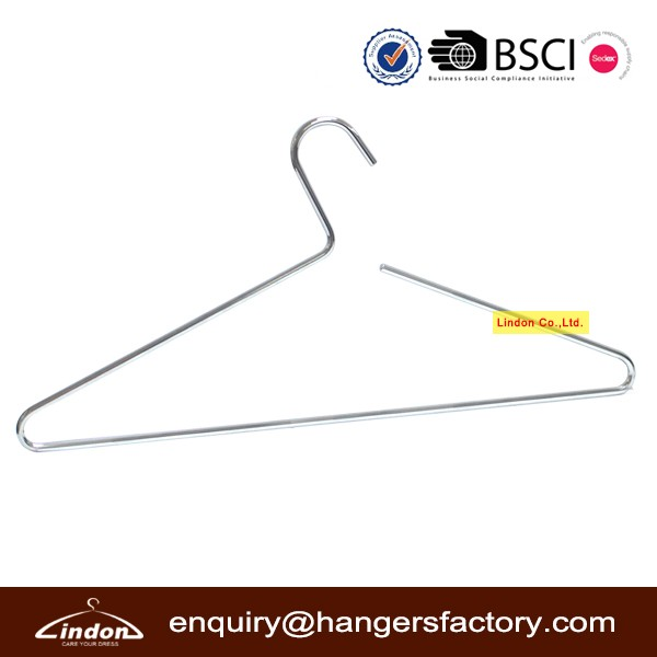 Diameter 5.5 mm thick laundry metal wire hanger for clothes