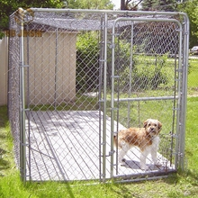Large Outdoor Metal Dog Kennel Chain Link Mesh Dog cages