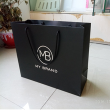 Hand length handle with Logo Print Shopping Gift Paper Bag