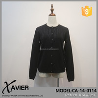 CA-14-0114cashmere classy sweater cardigan new fashion ladies dress with Handmade embroidery dark fringe