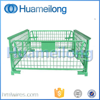 Warehouse Cage Collapsible Metal Wire Steel Storage Cage