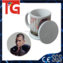 Sublimation Ceramic Coaster for cup as gift ,blank white mug pad for printing ,dye sublimation blanks