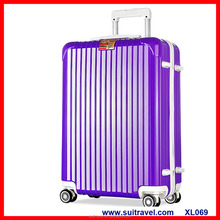 China Factory Newest abs pc hard side lightweight carry-on travel luggage case