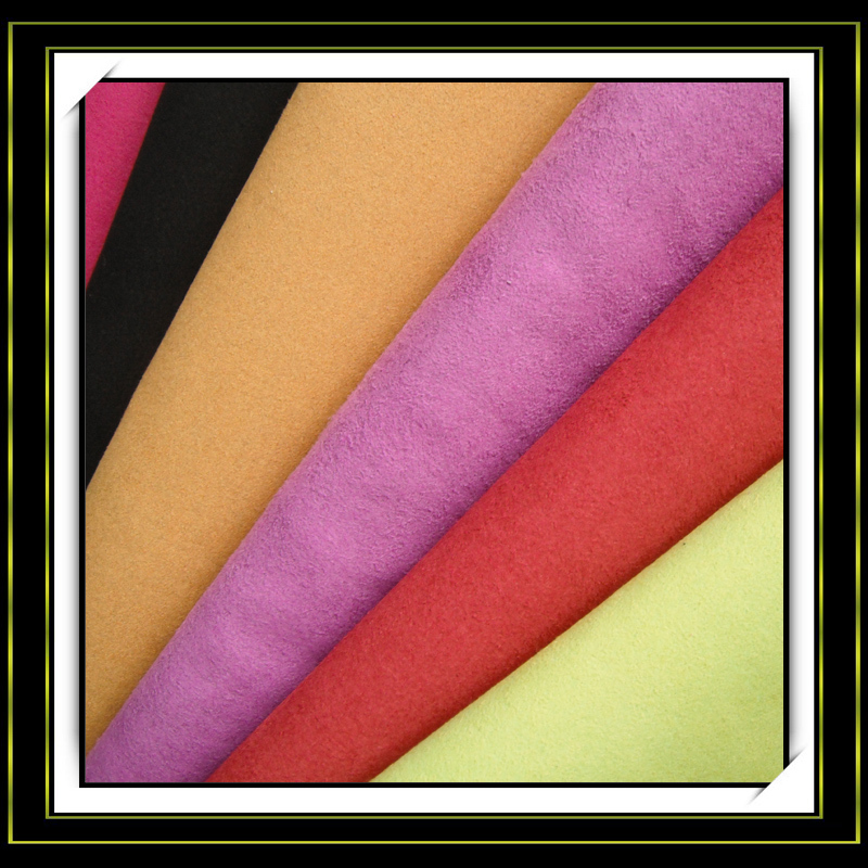 high quality lots of color 100% polyester suedette for sofa upholstery