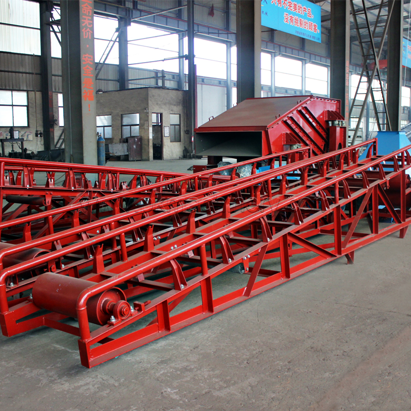 Portable/Mobile Belt Conveyor for Recycling/Ruber Belt Conveyor