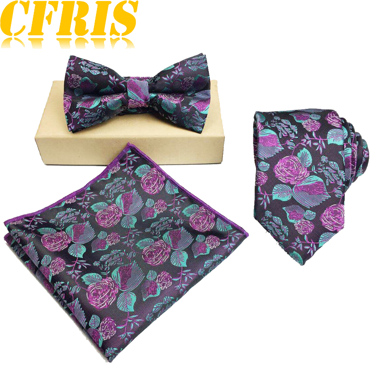 Custom designed polyester Woven Pattern colorful floral <strong>Tie</strong> and Pocket Square Set