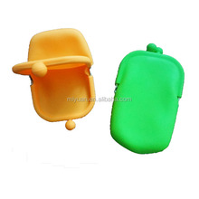 OEM colorful silicone mobile phone pouch coin purse cosmetic bag for women