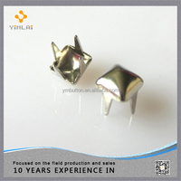 standard metal studs for shoes, bag and clothing