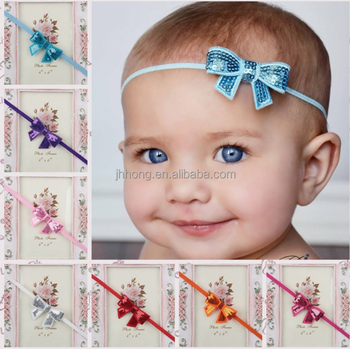 fashion baby hair accessories toddler hair bow baby headband cheap wholesale