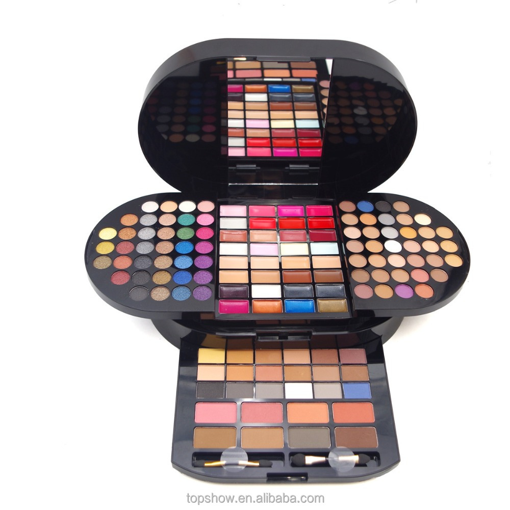 New 130 Colors Miss Rose Professional Makeup Brilliant Makeup Palette Eyeshadow Blusher Lipstick Cosmetic Set