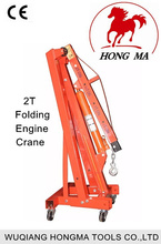 2T hydraulic folding engine crane tools for mechanical workshop equipment