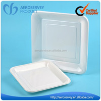 High quality hard disposable clear plastic party plates