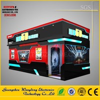 2016 lightly cabin 7d cinema equipment with rating game for shopping mall