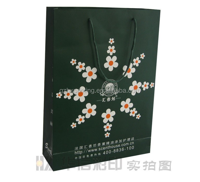 Newest Shopping Paper Bag for Cosmetic Packaging Luxury Style Paper Bag