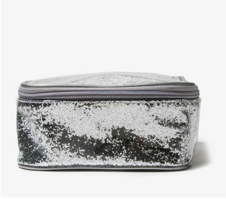Patent Glittered Cosmetic Bag