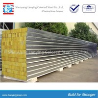 fireproof insulation board rockwool sandwich panel