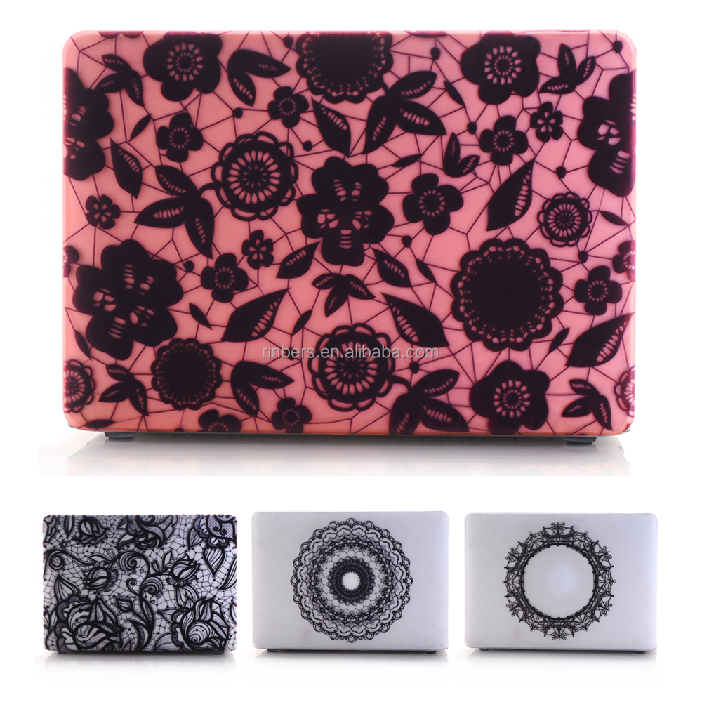 Fashion design New Arrival Hard Shell Lace Case Print for MacBook Air 11 13 Pro 13 15 Retina 12 13 15 Cover with keyboard