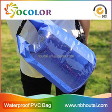 Classical Blue 210T High Quality Transparent Waterproof drybag, soft bag