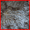 chenille anti slip silver wooden floor mat with glitter