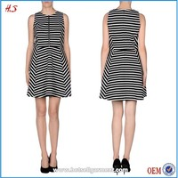Fashion design striped short frock dress and color combinations of dresses