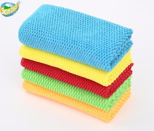 New stylish quality personalized rice jacquard microfiber kitchen and bathroom cleaning cloth