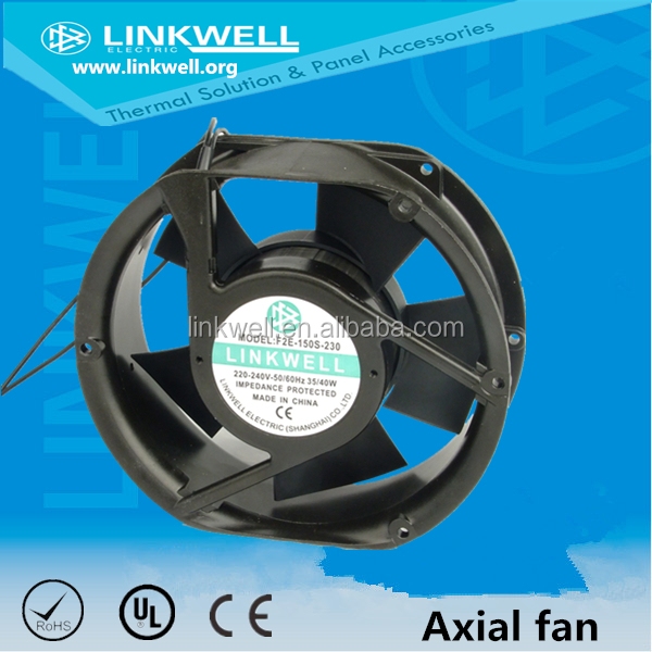 Industrial ball bearing axial exhaust fan
