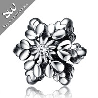 Stock Available Wholesale Sterling Silver christmas Snowflake Pendant Charms