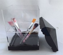 New 2015 Product Idea Trophy And Award Brush Holder Makeup Sets Acrylic Logo Pen Case