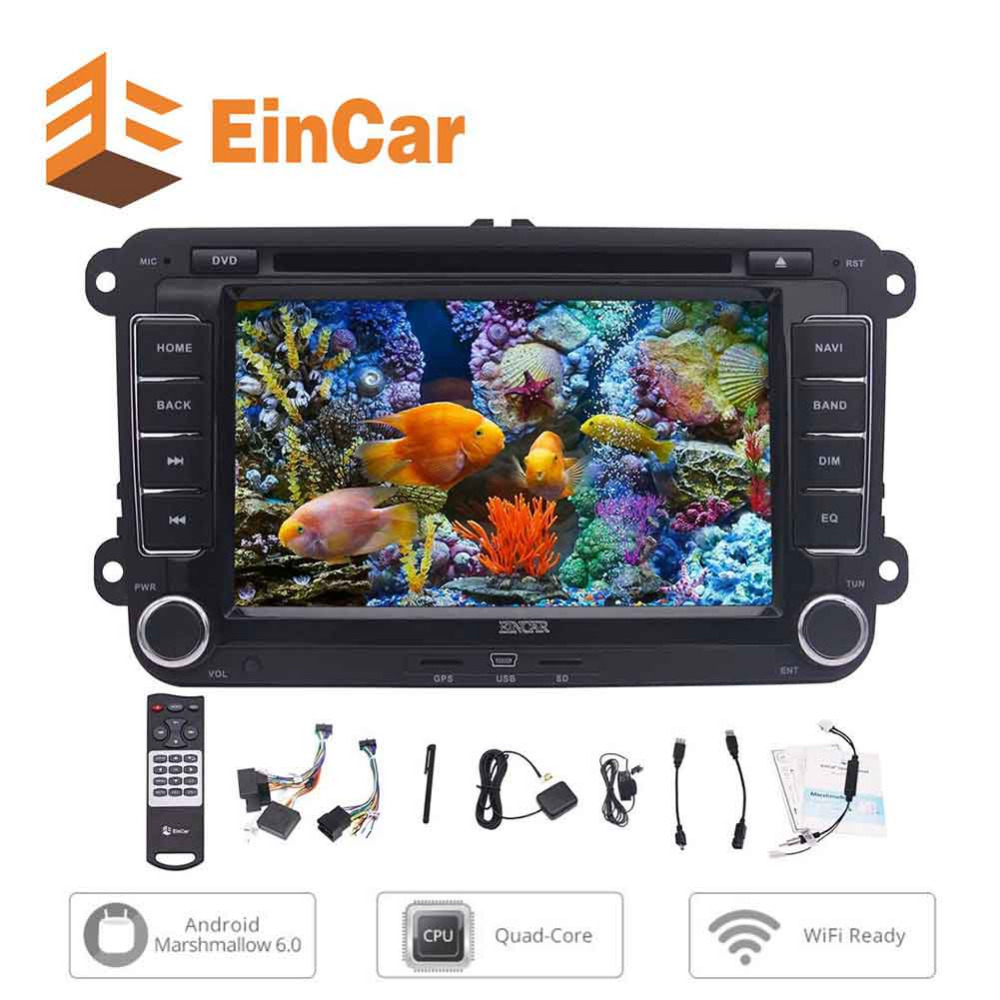 EinCar Android 6.0 7'' TouchScreen Car DVD Player Double Din Car Stereo Radio for Volkswagen GPS Navigation/BT/WiFi/SWC/CANBUS