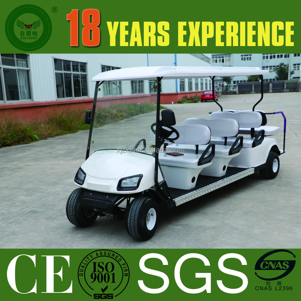 China new golf car frame for sale with CE approved, 8 seater electric car