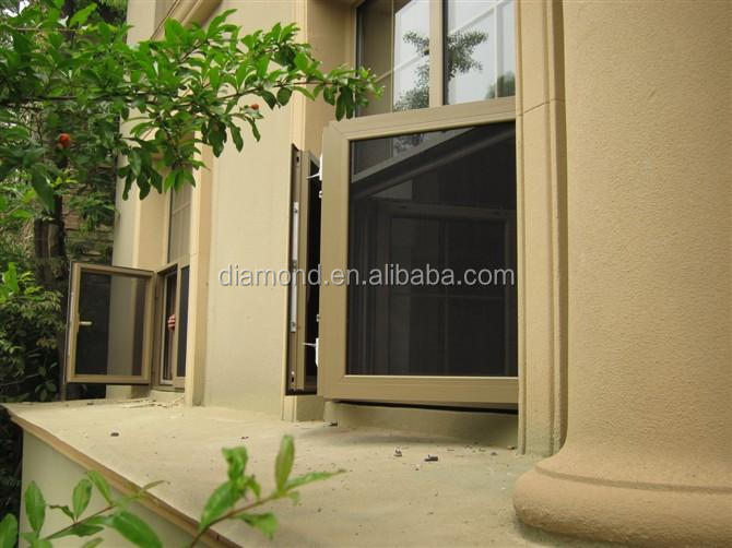 Internal security screens for casement windows