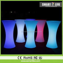 Rechargeable led straight bar table /bright bar counter